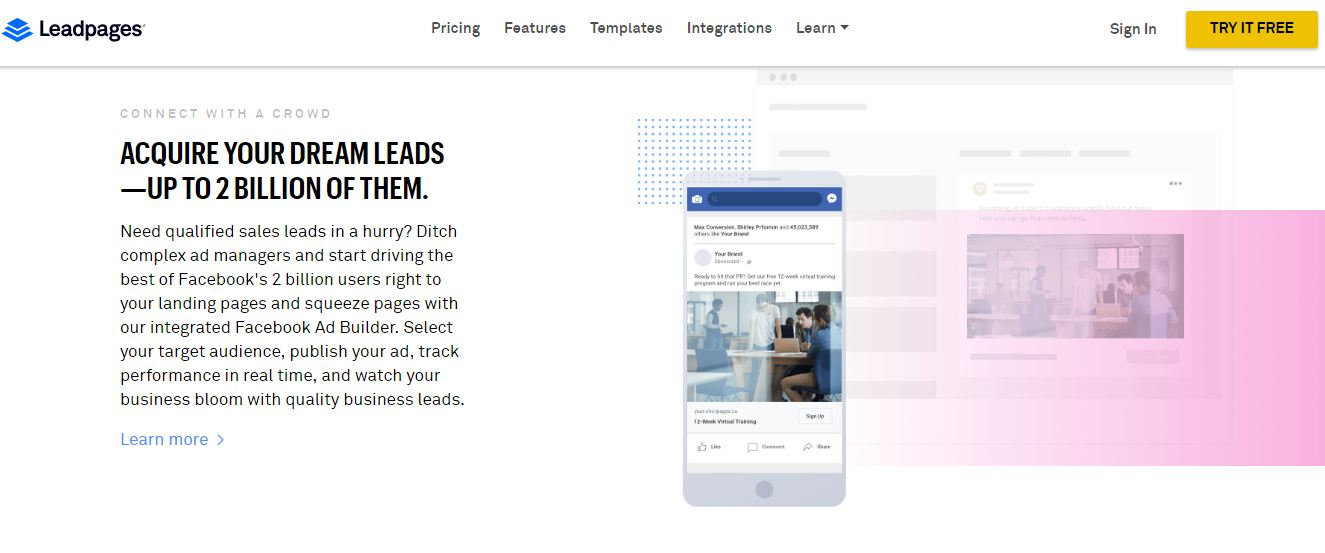 Leadpages, la plateforme de génération de Leads