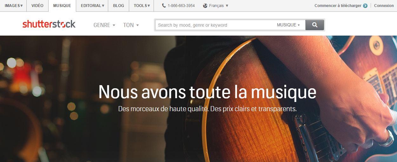 Shutterstock : une banque sonore et de vidéos